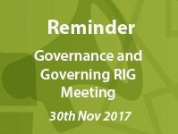 Reminder: Governance and Governing RIG Meeting