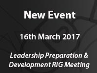 Leadership Preparation and Development RIG Meeting