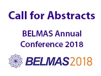 BELMAS Annual Conference 2018: Call for Abstracts