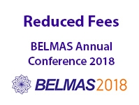 BELMAS Annual Conference 2018 Fees Reduced!