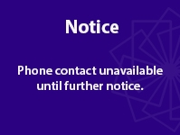 Important: Telephone Contact Currently Unavailable